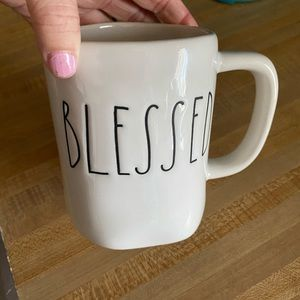 "Rae Dunn ""blessed"" coffee mug"